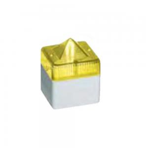 Sinalizador Industrial Cinza, 24V, Iluminação na cor Amarela