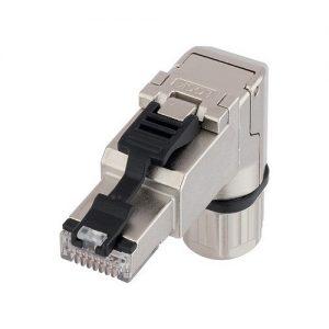 Conector RJ45 reto com rosca angulado EPIC DATA RJ45